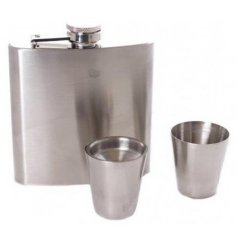 A beautifully simple set of stainless steel drinking equipment