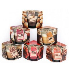 Bring an indulging festive feel to any home space with this deliciously scented candle pots