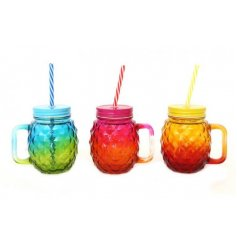 Bring a totally tropical touch to any summer party or BBQ with this funky assortment of glass drinking jars
