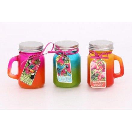 Tropical Paradise Toned Candle Mason Jars 8.5cm