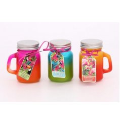 Bring a totally tropical touch to any summer party or BBQ with this funky assortment of glass candle pots