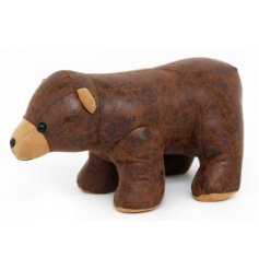 Add a wild touch to your home decor with this sweet little faux leather doorstop
