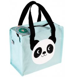 An adorable baby blue themed charlotte back, adorably finished with a friendly panda face