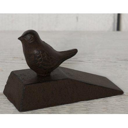Perched Bird Iron Door Wedge