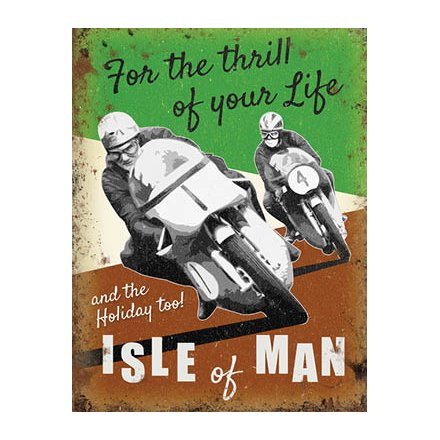 Isle Of Man Racing Metal Sign