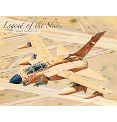 A crisp and clear illustrated metal signs of one of the Legends of the Skies,