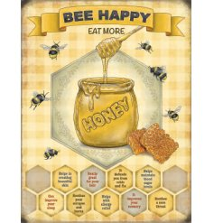 From our wide range of metal signs is this sweet honey bee themed sign