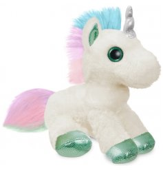 A sweet and soft to the touch plush unicorn soft toy