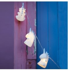 A sweet and mystical inspired set of hanging LED string lights, perfectly finished with unicorn decal
