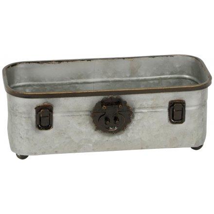 Vintage Distressed Metal Trough
