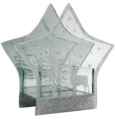 Indulge your home with a beautiful warming glow this christmas time with this stunningly finished mirrored glitter star