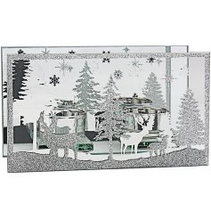 Indulge your home with a beautiful warming glow this christmas time with this stunningly finished mirrored glitter tlig