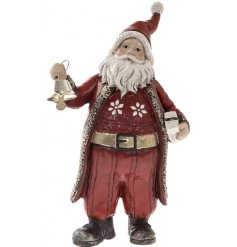 Bring a traditional and festive feel to any home decor this Christmas with this rustic inspired standing Santa ornament