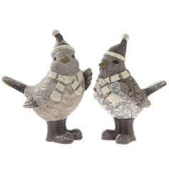 A beautifully patterned assortment of posed resin Robin figures