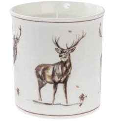 Add a classic vintage touch to your christmas decor this festive season with this beautifully finished candle pot