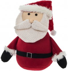 Get into the festive spirit with this sweet little sitting santa doorstop