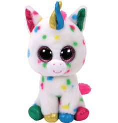 A Harmonie the unicorn Beanie Boo TY Soft Toy