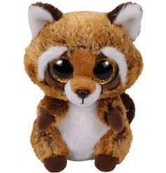 A Rusty the raccoon Beanie Boo TY Soft Toy