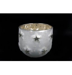 A Small Silver/Gold Star Candle Holder