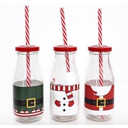 Christmas Milk Bottles, 3a