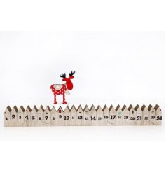 A charming nordic inspired 3D Advent calendar with reindeer.