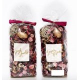An assortment of 2 200g Pink & Gold Potpourri