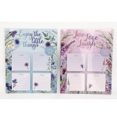 An assortment of 2 Meadow & Garden Large Magnetic Memo Pads
