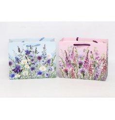 An assortment of 2 Meadow & Garden Large Gift Bags