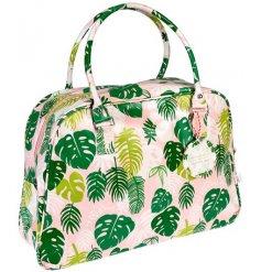 A 48cm Tropical Palm Print Weekend Bag