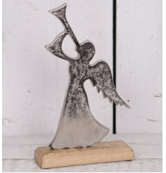 Bring an angelic touch to your home decor at Christmas time with this beautifully distressed standing Angel ornament