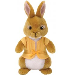 Mopsy Rabbit is made from a snuggly soft fabric and sweetly dressed in her favorite cardigan