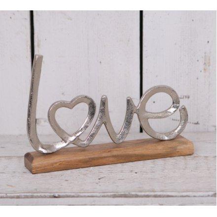 Metal Love Letter Ornament