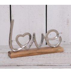 A Metal Love Letter Ornament