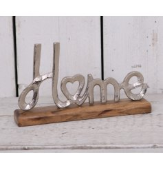A Metal Home Letter Ornament