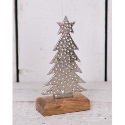 Small Aluminium Wooden Tree