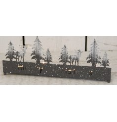 Bring a calming winter glow into your home spaces with this beautifully distressed metal tlight holder