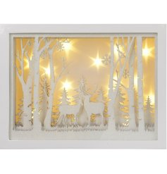 Invite an illuminating cozy glow into any home interior or window display with this beautifully finished frame
