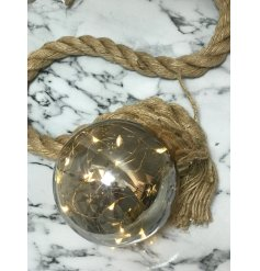 this hanging chunky rope light decoration will be sure to bring a Rough Luxe touch to any scene