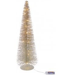 Bring a glittering effect to your Christmas displays or home interiors with this sparkling LED pine tree