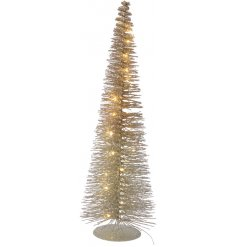 Add a warm glowing edge to any home interior or display scenes with this glam looking light up tree