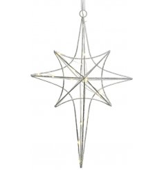 Bring a Luxe Living inspired touch to any home decor or Christmas tree with this chic hanging star shape decoration