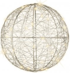 Bring a Luxe Living inspired touch to any home decor or Christmas display with this chic standing or hanging ball decor