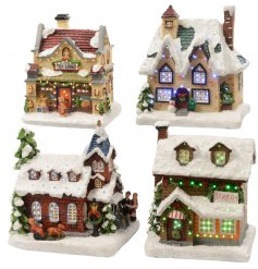 Stand these brightly illuminating LED based buildings on any sideboard or windowsill during the Christmas season