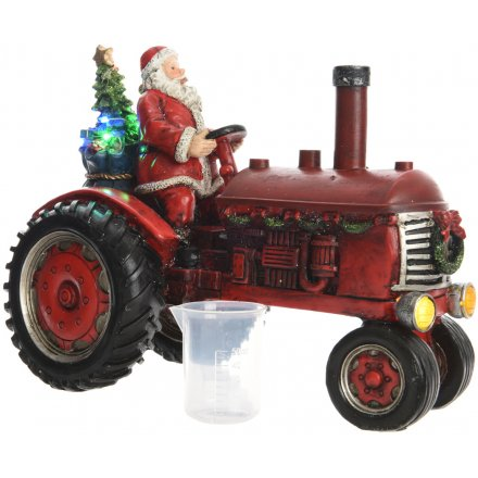Led Illuminating Santa On Tractor 29cm 39216 Christmas Light Up Led Lights Gainsborough Giftware Ltd