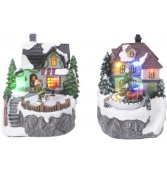 With an assortment of 2 differently designed christmas scenes, these festive infused LED decorations are a must have