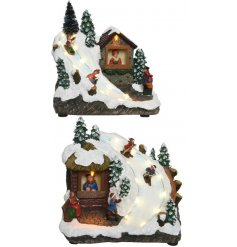 Stand these brightly illuminating LED based scenes on any sideboard or windowsill during the Christmas season for a Trad