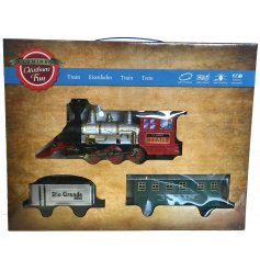 Bring home an animated seasonal touch with this beautifully nostalgic musical light up train