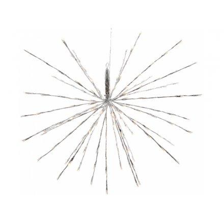 LED Hanging Glittered Star Decoration 45cm