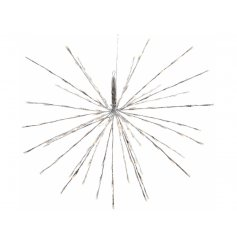 Hang this beautifully glittered spiked star decoration in any home interior or garden space to bring a Winter Wonderlan
