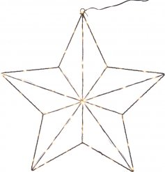 Bring a Modern Luxe touch to any home decor this Christmas season with this stylishly chic metal star hanging LED